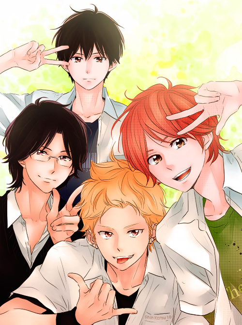 *Takes a photo of the boys hanging out in Akiba.* @blueflamesoul @azureflamesoul @narutokyuubishadow