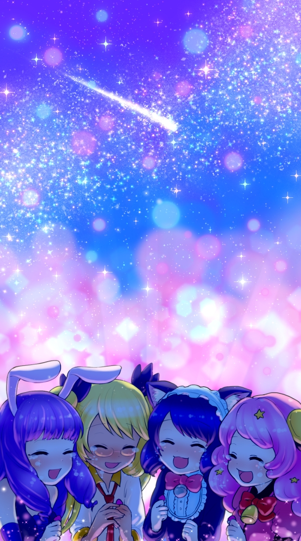 *In another time and place on a mountainside with a view of Midi City. Chuchu, Moa and Retoree sat t