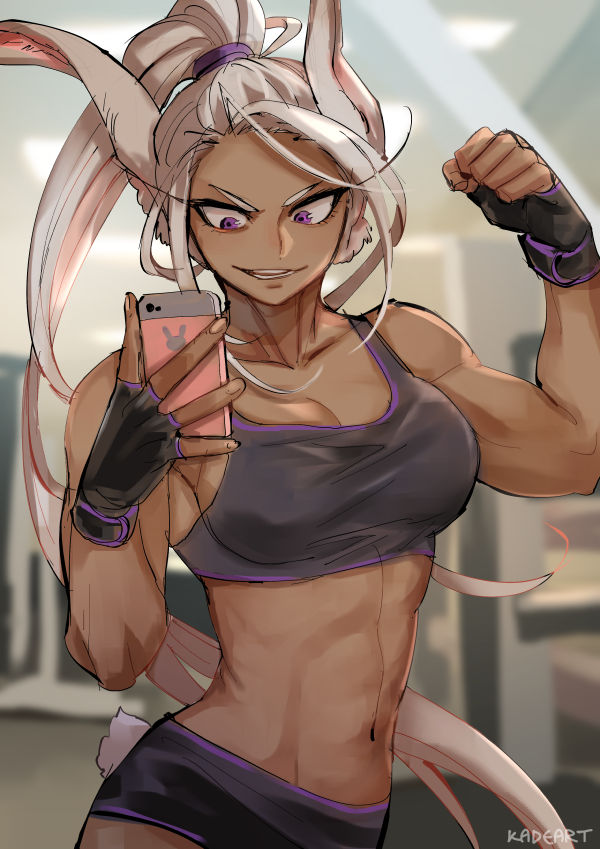 *Claudine always makes a little time for some self love after a great work out.*Usagiyama.Rumi.full.