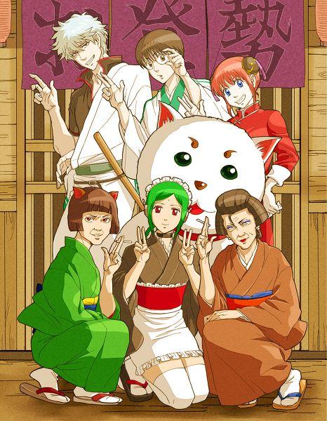 A beautiful memory. *Puts up a photo of Gin, Yukio Ginpachi, Kagura, Catherine, Sadaharu, and hersel