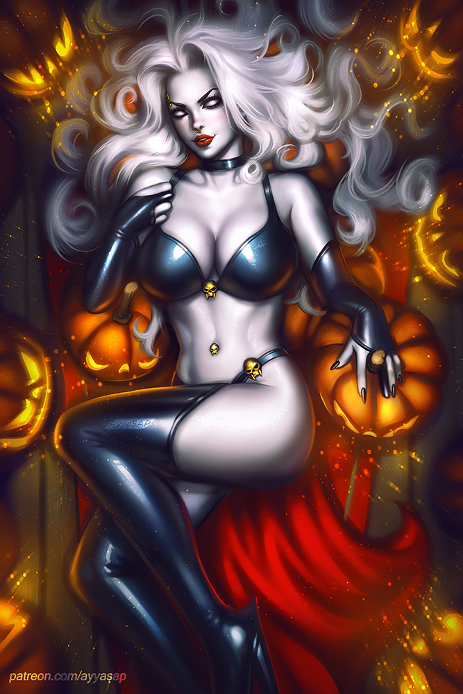 *Then Momo posed in her Lady Death form which was much requested by many of her a fans.* dbqg0s0-02d