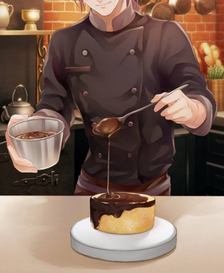 *he eat the cake he made* ugh… too sweet how can anyone eat this is the recipe really right? d
