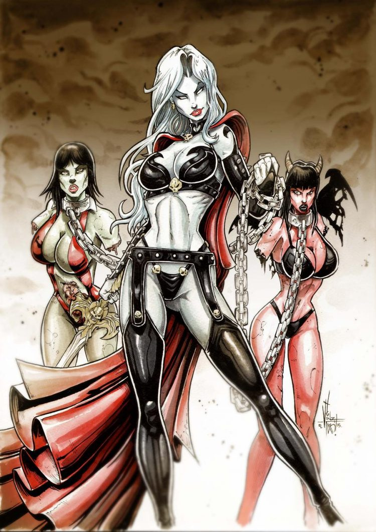 *She had one more to do with her sisters for a movie poster.* @savvydemonflameyukii @skybluedemonfla