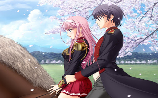 *Myuu was nervous, both because she was riding a horse and mostly because it was with her husband Ri