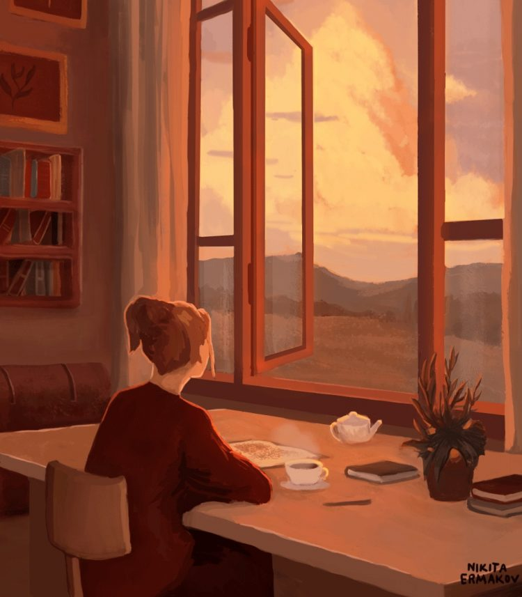 Such a beautiful view! *watches the peaceful scenery from her bedroom window* 69524E9E-DDF2-4EBF-8C8