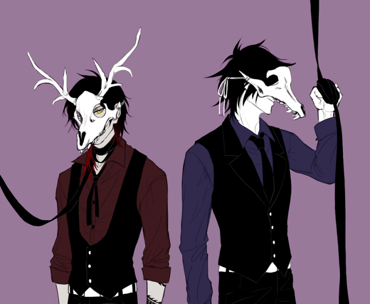 *Nox and Summa weren't about to miss out on the fun at the Autumn Masquerade Ball. They entere