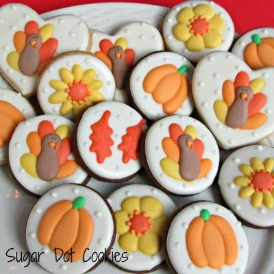*Helena helps Noloty with more autumn bakery sweets. There were trays of Autumn Sugar Cookies being