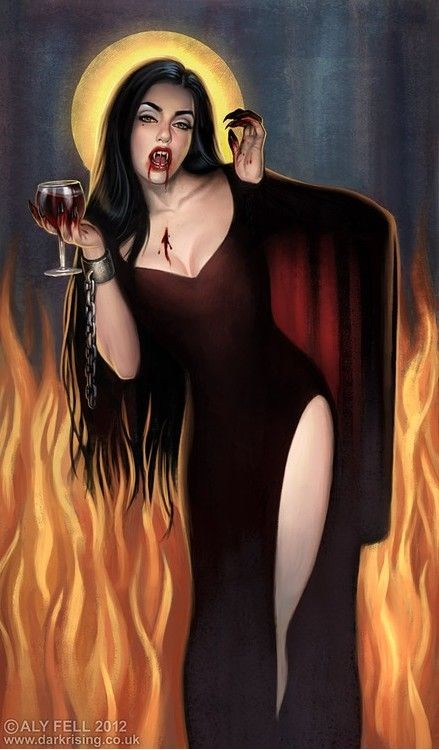 *Having a pre-celebration as she continues her scheme to escape from the clutches of Lord Satan. She