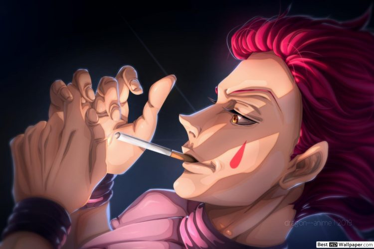 *On a desolate highway, Hisoka quietly waits for his ride. He had lit a cigarette to pass the time,