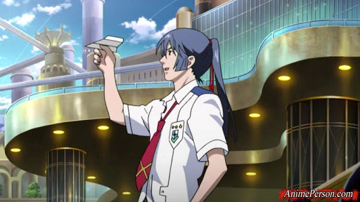 *As he took a break from patrolling the campus area known as Academy City, Alto used a paper airplan