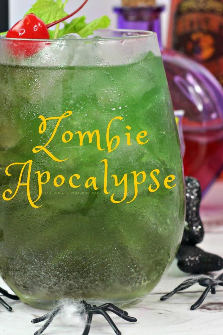 *Tama make sure there are plenty of Halloween themed tropical drinks at the Tiki bar. She makes sure