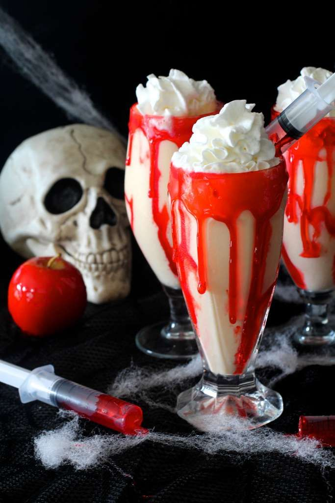 For the season of Halloween/October, the ghoulish themes take over the Ice Cream and Milkshakes at