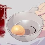 * Allowing Souma some time with his family, Rin stepped into the kitchen with his hair pinned back a