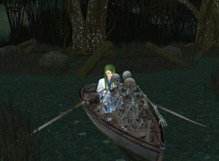 *Yukina had decided to get a boat to take so that she could join in on the all hallows eve themed pa