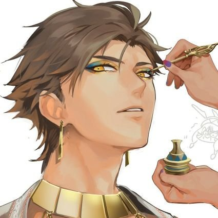 *Getting his make up done before the start of his next modeling gig.* I hope this is not for another
