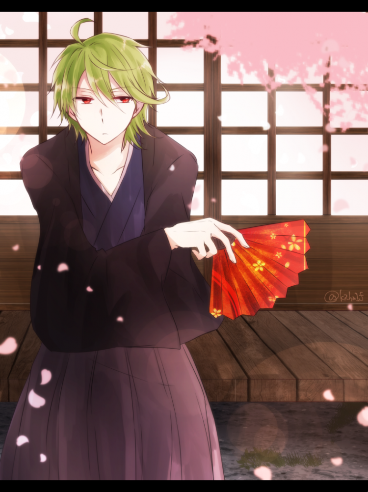 *After the modeling session, he was able to stop at Sakura Lane for a quiet time watching the beauti