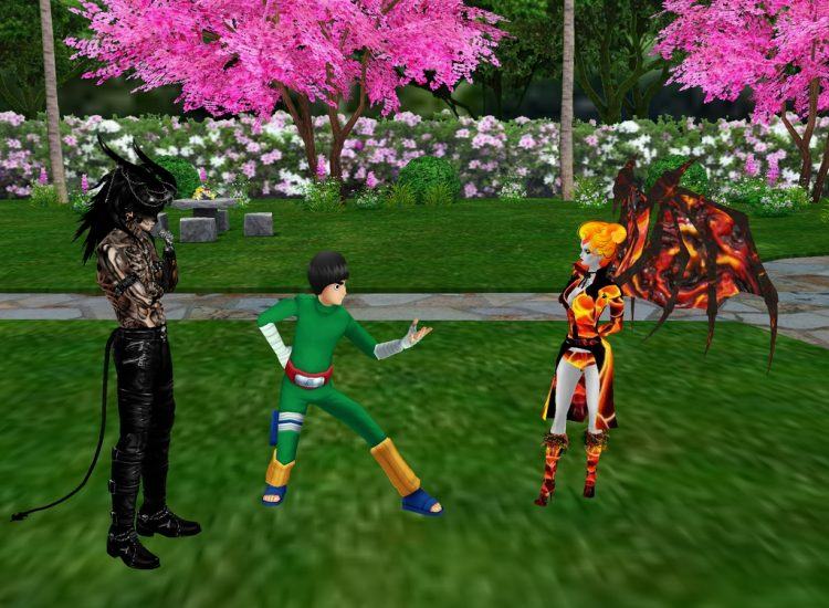 *Demona and Dez stop to hang out with Rocky before going to the Halloween party.* @imperialbloodofpu