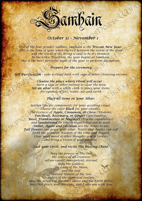 *Ren sets up the place for Samhain Ritual Celebration. She prepares the scrool from the witches book