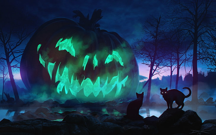 *Nobuneko and Kageneko brought over a giant pumpkin that would be set in the middle of town.* We fou