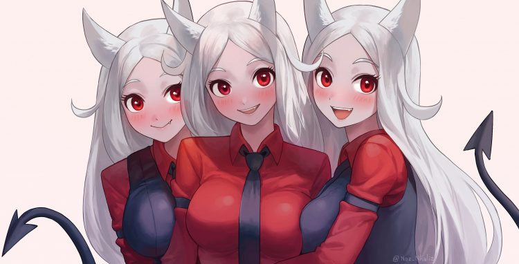 @helltakerdemontriplets *Manages Cerberus's daughters through their photo session.* s6NHl6v