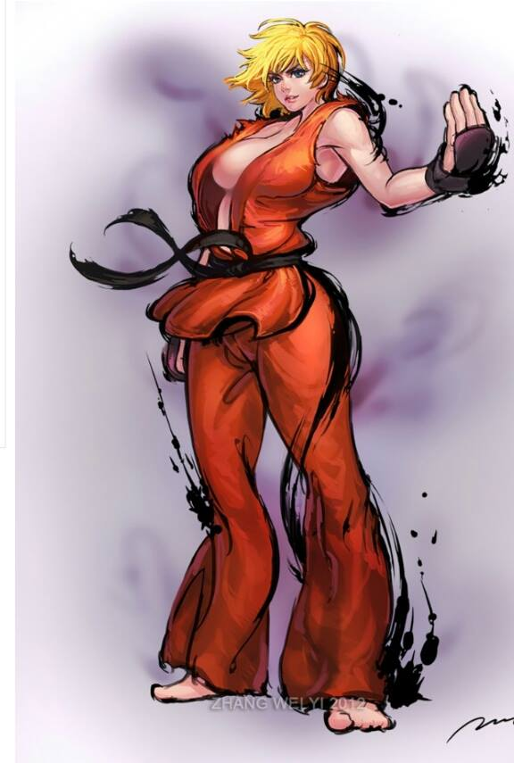 *She is warming up and getting ready to spar with someone she's waiting on.* 10001418_57083361