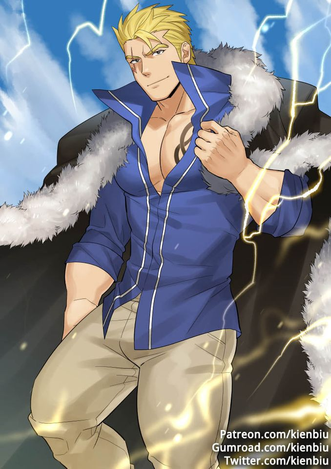 *Laxus was heading towards the bus stop from the bed and breakfast so he could make his way to the n