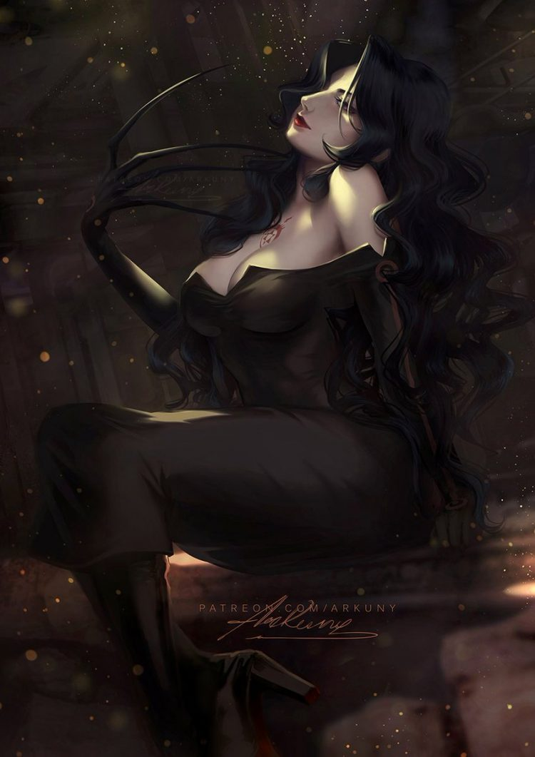 *Hours before the Night of the Witches, LuzHela and Lilith arrived with their driver Chrollo to a de