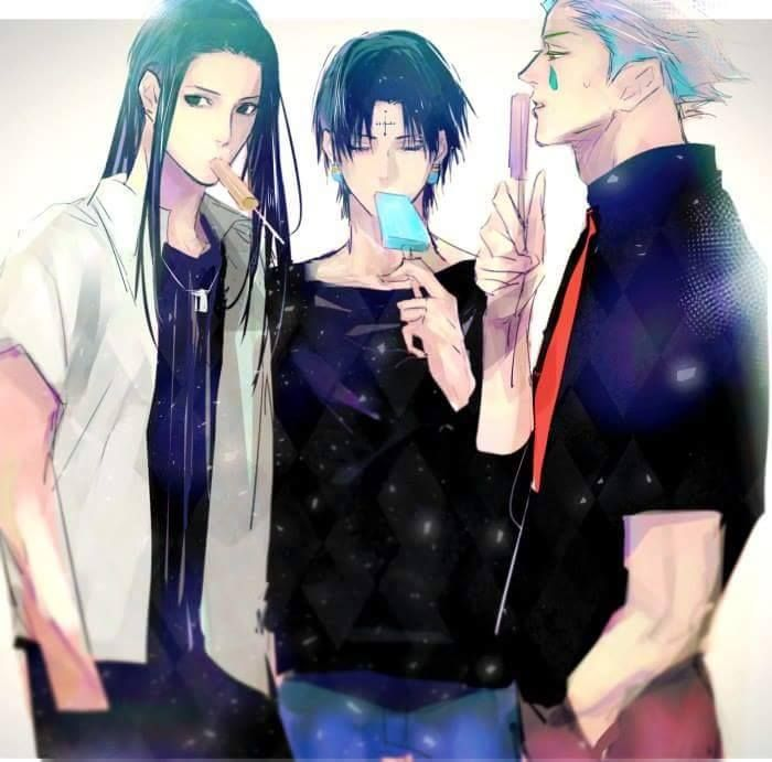 It was a good idea to try these! *Illumi licked his ice pop with delight.* I was wondering how long
