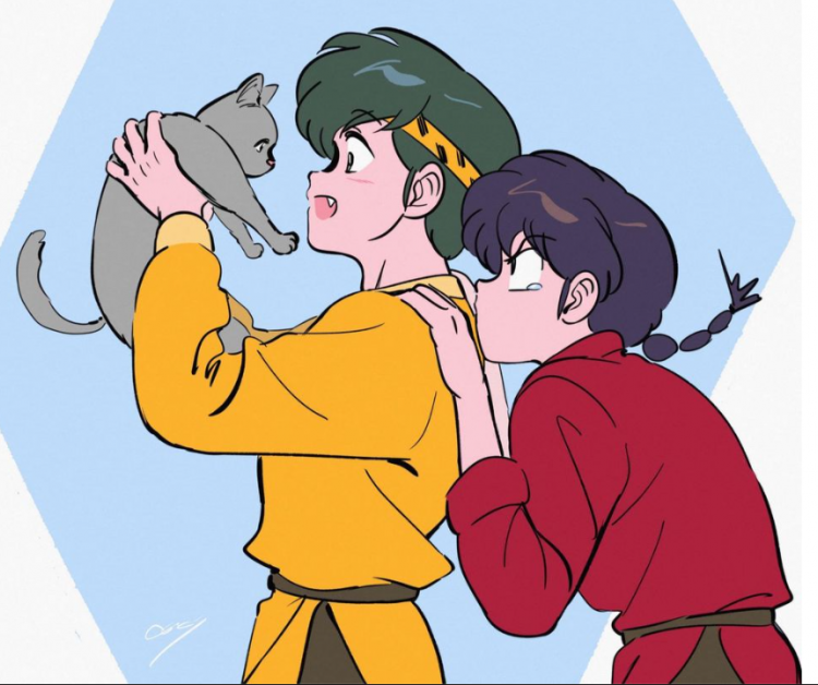 Check out these cute cats Ranma! @firetripperranma catryogaandranma