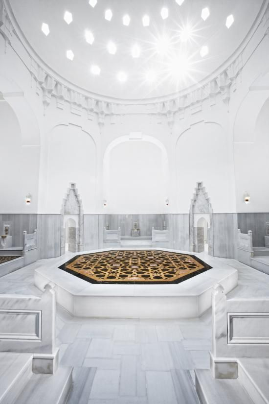 *After he's done, the place reveals itself to be a Turkish style bathhouse.* cb86e6546e98f3917