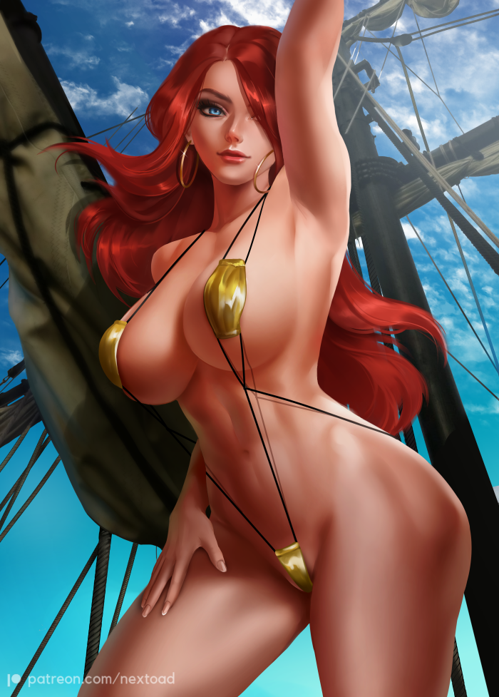 I love that this beach has a special warmth year round. *She puts on her bikini and heads out to enj