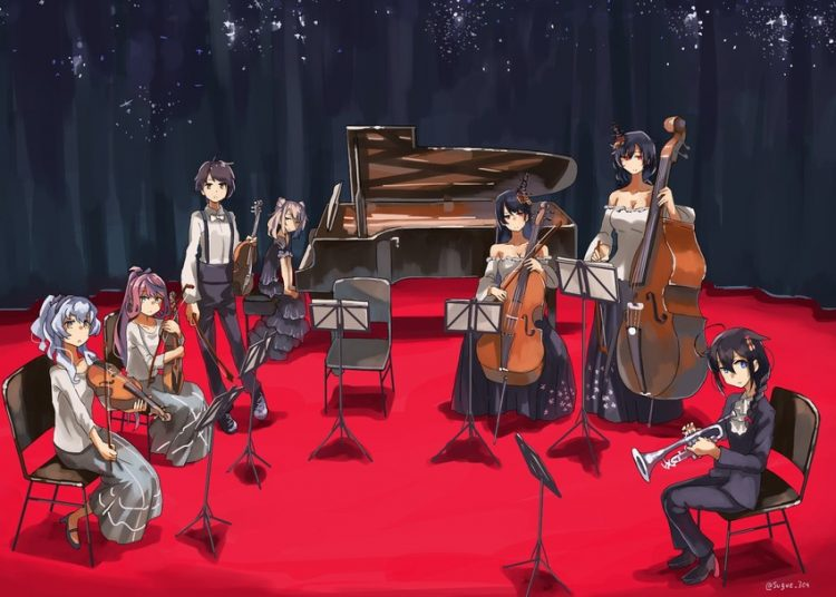 *Helena helps some music students to practice at the studio.* This room should be suitable for your