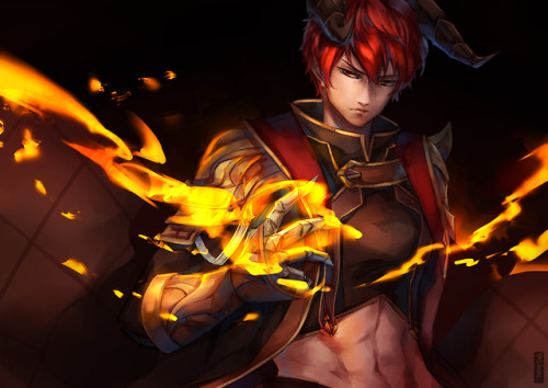 *He returns home with his Dez @imperialbloodofpurgatory and is about to take down the barrier but no