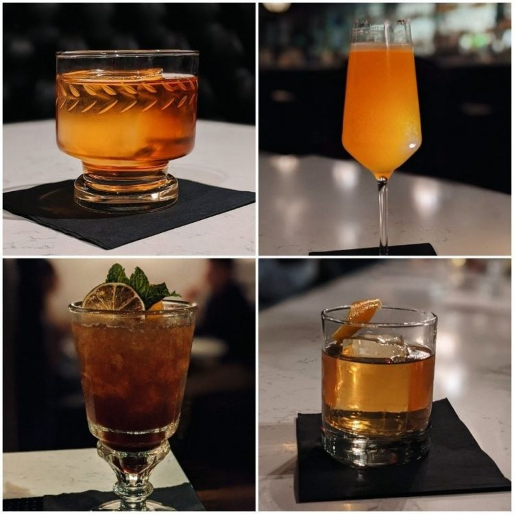 *She puts some drinks on the table.* Let's have these! Let me know if you like them. *She then