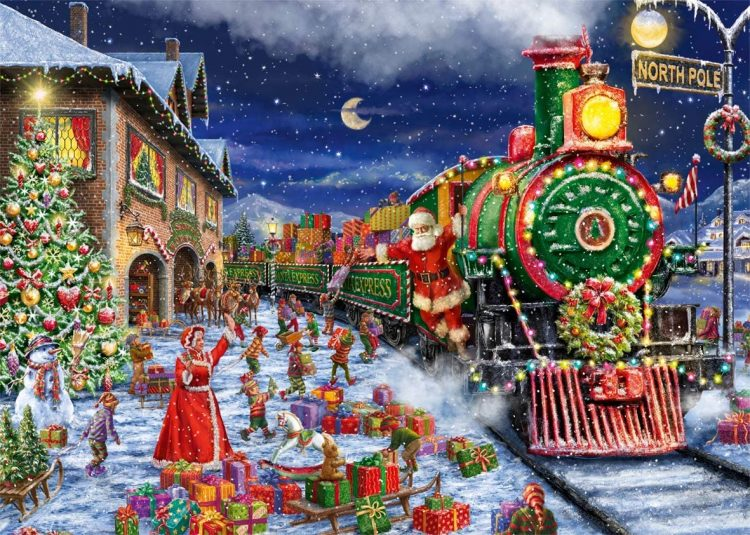 *The staff was ready to take families and visitors out on the beautiful tour of the Winter Village t