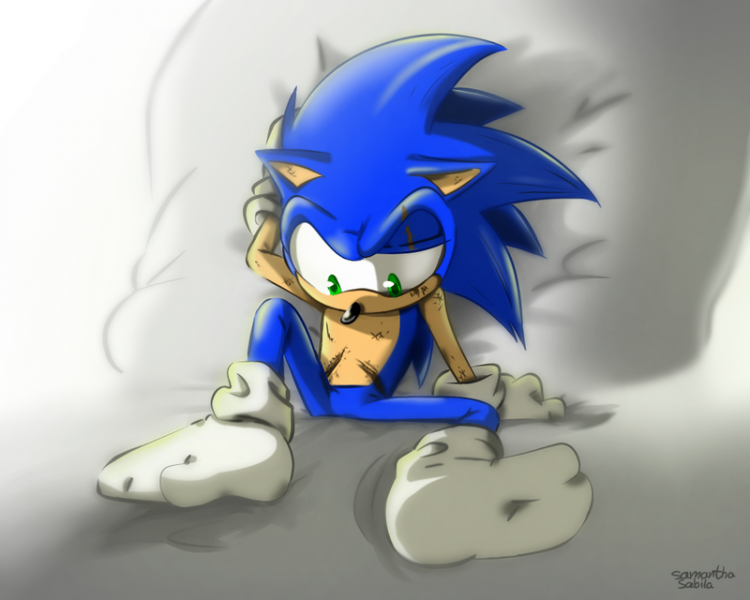 *Sonic was waiting for his release forms and a final check up before he could be discharged form the