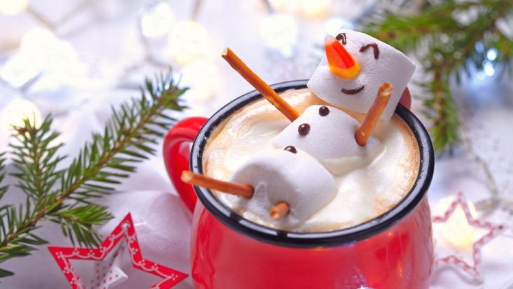 *Enjoys her hot snowman chocolate drink* Awww, look at that! Frosty is even smiling! *teases at her