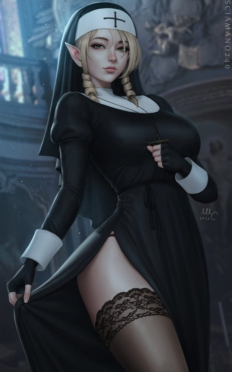 *Mischievously dresses as a nun and drops in to admire the architecture of the church and smirk at t