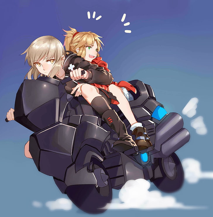 *Later on she picks up her daughter, Damiana.* @satodemone saber-alter-fate-grand-order-motorcycle-f