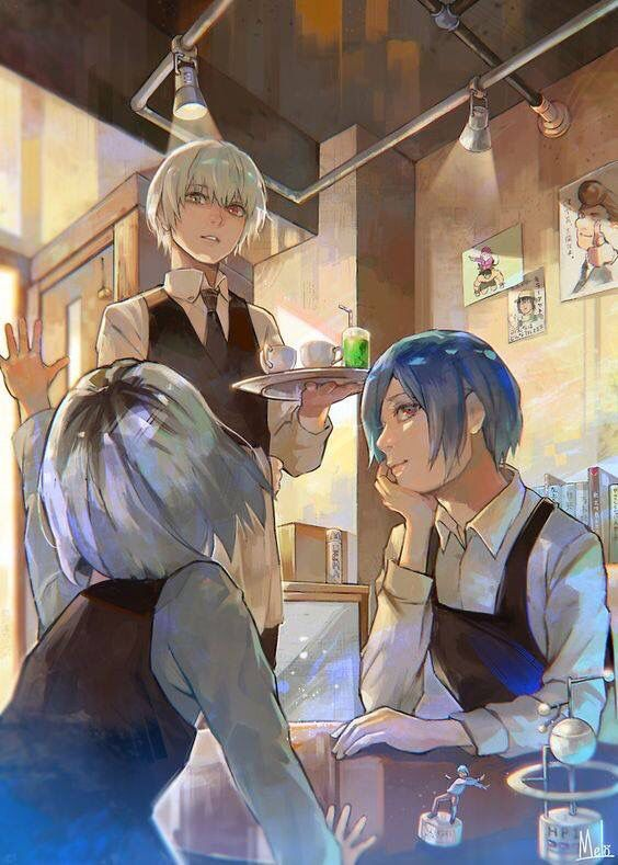 *Helps out serving drinks and pastries at the bakery.* 1fac5b6082a47b8d4761304b44a59250
