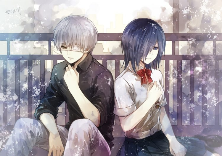 *Finally getting a short break, Haru and Night were siting in the back yard of the bakery when Helen