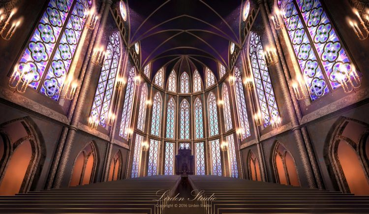 *They stopped to look inside before the mass began. It was still empty and Leo admired the details i