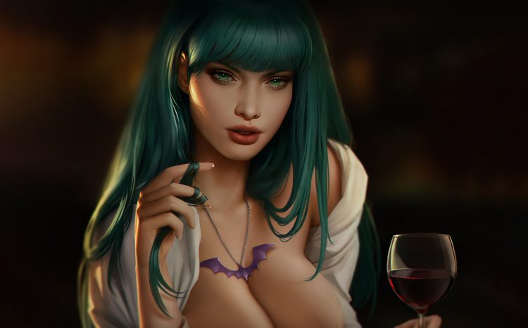 *Enjoying a glass of wine before continuing on with her mission* Blood would have tasted better! *wi