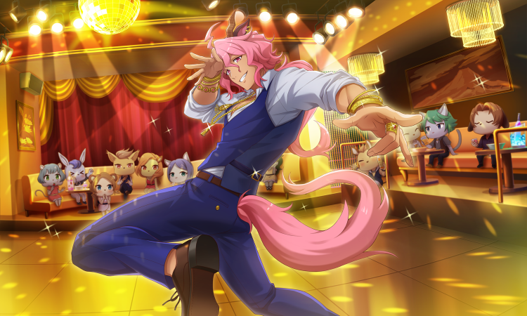 *Showing off his best moves in honor of Lady Helena's birthday celebration this month.* Oh yea