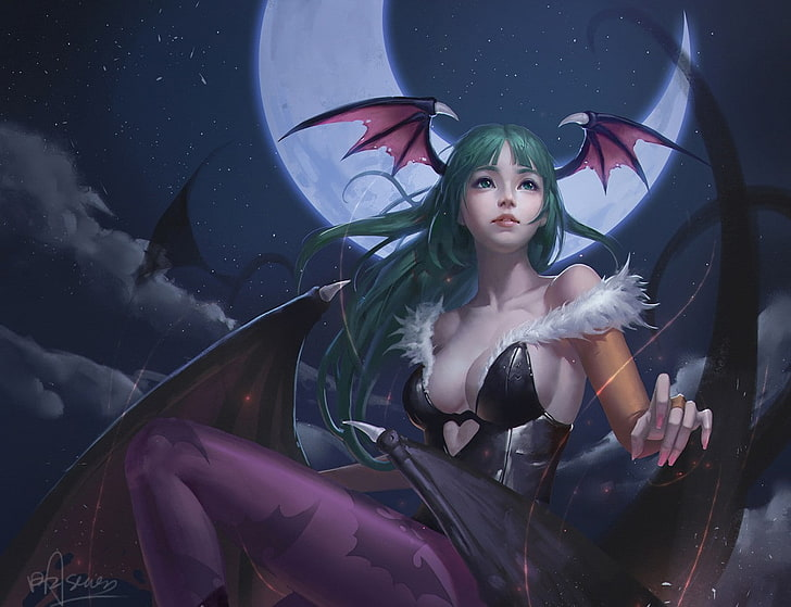 @sultrysuccubussugarfiend // Thank you for the gift my lovely lady Lilith! // anime-girls-video-game