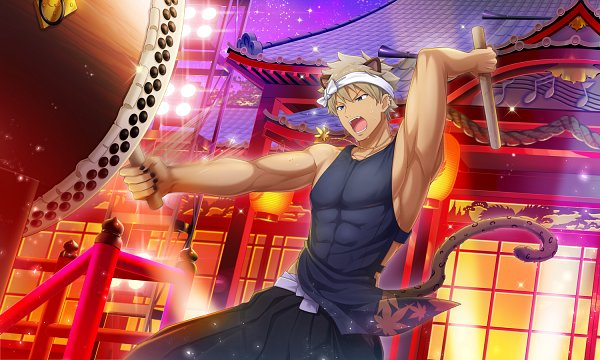 *He was contracted to play the traditional drums at Sakura Lane which got him on a new platform whic