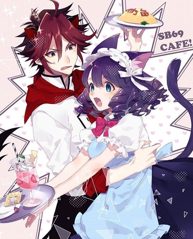 *Cindy Cyan and Daniel Kurou were helping out at the restaurant, there were so many customers that t