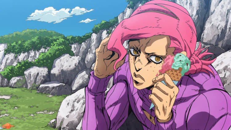 Doppio: *Nervously shaking as he eats the ice cream he was given when he stopped in to join the bbq.