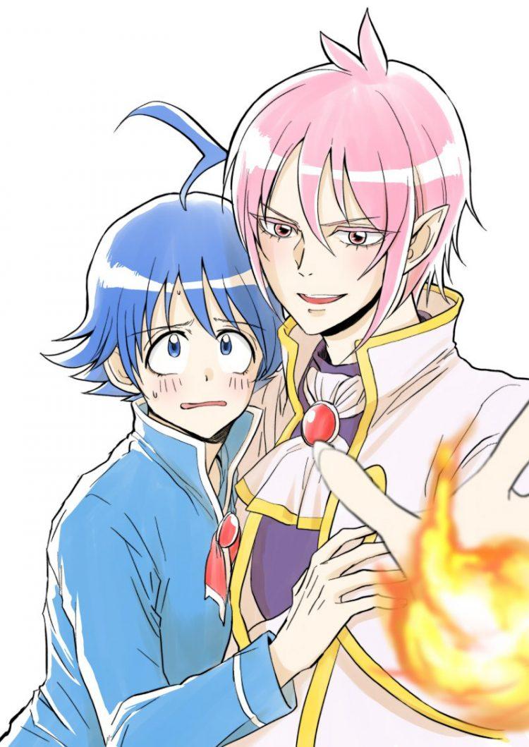 *Happily getting a photo with Xeryus.* @bluedevilukeprince Mairimashita!.Iruma-kun.full.2718988