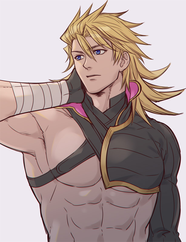 *He notices Helena and brother Gin in the distance.* Guess we were all thinking the same thing. My b
